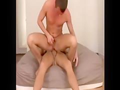 Horny gay guys ass stretching